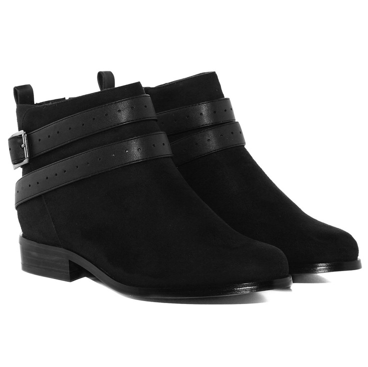 ATA - BLACK LEATHER - Evans Shoes