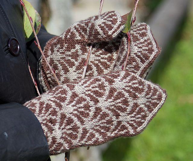 Ravelry: Frond Mittens pattern by Natalie Servant - $5