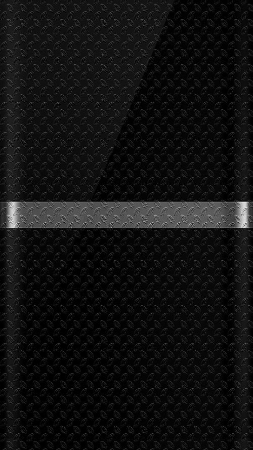 Dark S7 Edge Wallpaper 07 With Black Background And Silver