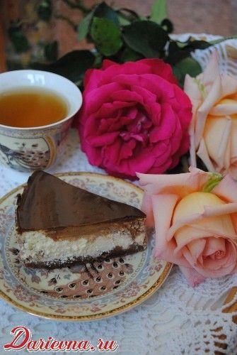 Шоколадно-ванильный чизкейк с апельсиновой ноткой