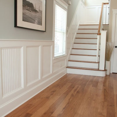 32 best wainscoting images on pinterest bathrooms decor for Beadboard wainscoting bathroom ideas