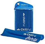 Chill Pal (Blue) Mesh Cooling Towel Stay Cool Towel Cold Towel Sports Towel Chill Towels For Sports Men Dogs Kids Neck Bulk Athletes Instant Cooling Relief Yoga Camping Workout Running