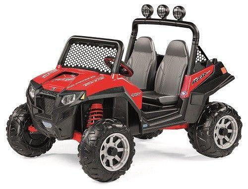 12V Battery Powered Ride On Polaris Ranger Car Truck 2 Speeds Kids Electric Toy #12VBatteryPoweredRideOnPolarisRanger