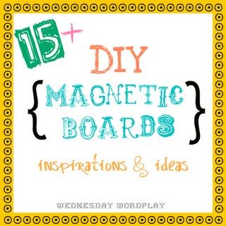 15 ideas para pizarrones magnéticos