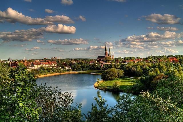 Panoramablick über Lüneburg