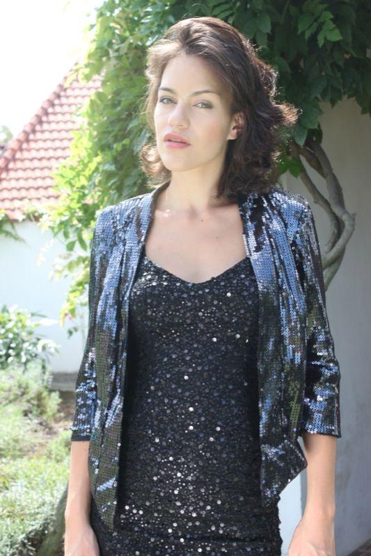Shimmering Black Sequin Bolero