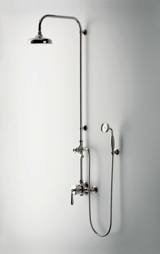 Exposed thermostatic pipes #bath #remodel