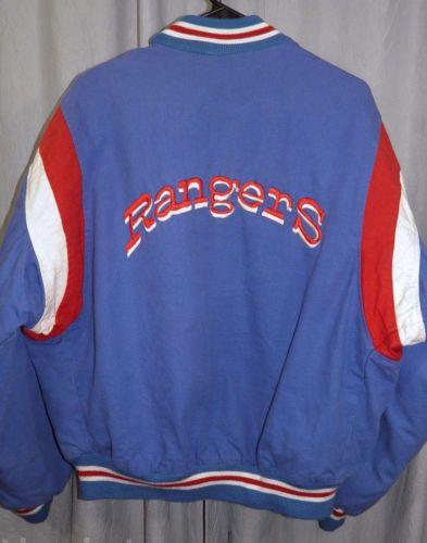 Vintage-Texas-Rangers-XL-Lined-Cotton-Baseball-Jacket-MLB-Identity-Inc