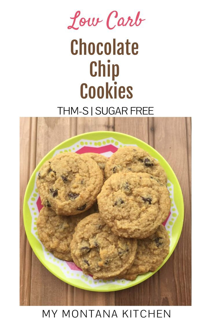 these low carb chocolate chip cookies are the perfect cakey low carb cookie sweetene low carb chocolate chip cookies low carb cookies low carb recipes dessert pinterest