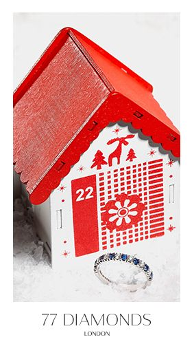 Our diamond snowflake earrings will get you in the Christmas spirit. #77Dadventcalendar #adventcalendar #Christmas