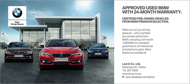 Leal & Co. Ltd - BMW PREMIUM SELECTION. Approved used BMW with 24-Month Warranty. Tel: 207 2300