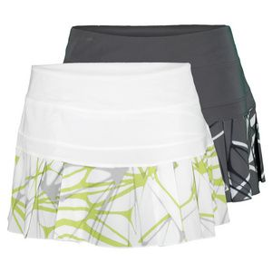 The Nike Women's Printed Pleated Woven Tennis Skirt is great for athletes who like versatility in their wardrobe. The contrast pleats in a cool, contemporary pattern on this classic skort offer great style and ventilation, while the Dri-FIT technology wicks away sweat and the built in shorts provide ball storage.#niketennis #tennisskirt