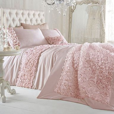 girl bedroom Pink 'Antoinette' bed linen - Duvet covers pillow cases - Bedding - Home furniture -