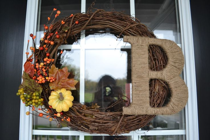 fall wreaths for front door | am about to show you the easiest DIY project ever. You ready for ...