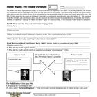 This is a worksheet used with US History Holt Textbook that explains and outlines the nullification crisis. I have also posted a Powerpoint that br...