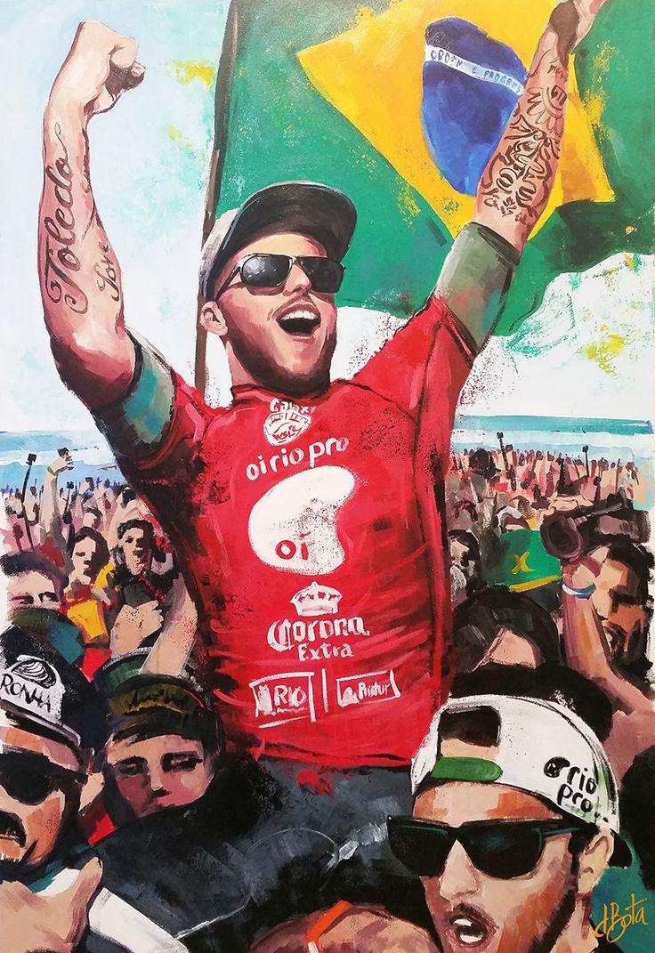 Filipe Toleto 100x150cm - Acrylic on Canvas