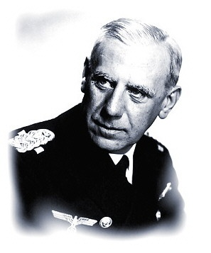 Admiral Wilhelm Canaris.  Not only was Canaris an Admiral and head of the Abwehr - military intelligence - he was a dedicated secret opponent of Nazi ideals and of Hitler and other top leaders of the party.  He maintained ties with German and Allied resistance groups, protecting them and encouraging their efforts to bring about Hitler's downfall.  Near the end of the war, he was betrayed and executed by hanging at the Concentration Camp at Flossenburg.