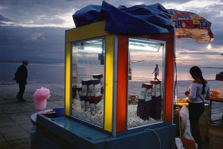 Alex Webb GREECE. 2003. Thessaloniki. Aegean Sea Road. Magnum Photos Photographer Portfolio