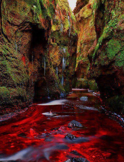 Blood River, Devil's Pulpit, Gartness, Scotland: