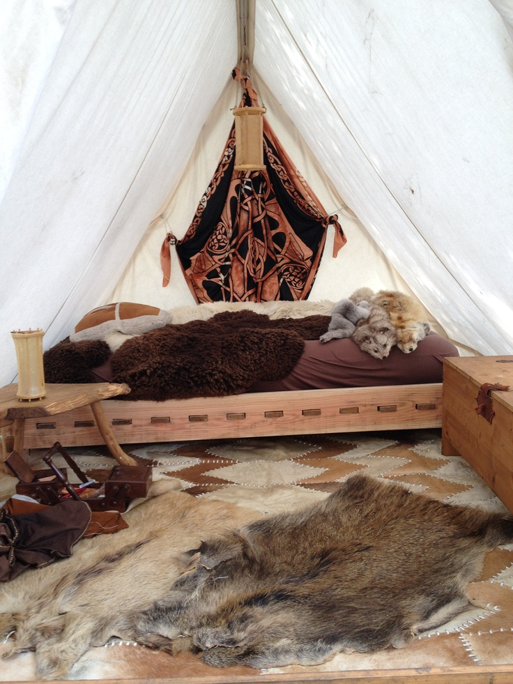Viking tent interior viking encampment pinterest for Home decorations on sale