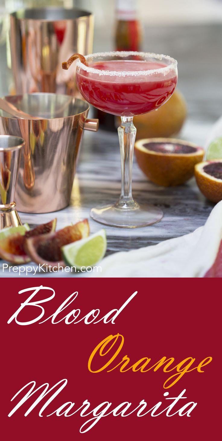 Blood Orange Margarita via @preppykitchen