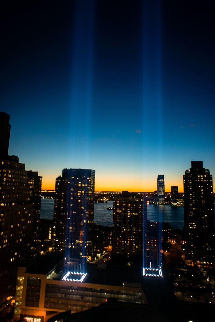 Best Tribute Images On Pinterest September - Two beams light new yorks skyline beautiful tribute 911