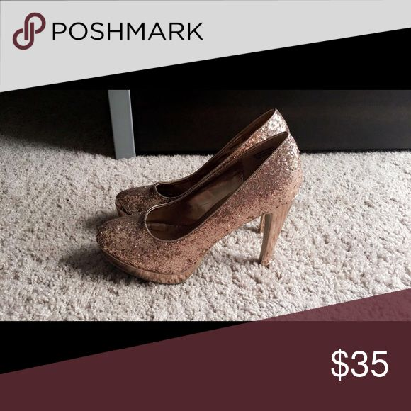 Rose Gold pumps Rose gold sparkly pumps Shoes Heels