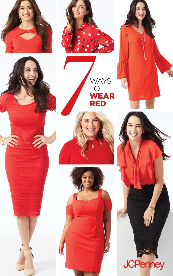 JCPenney Red Dresses for Women