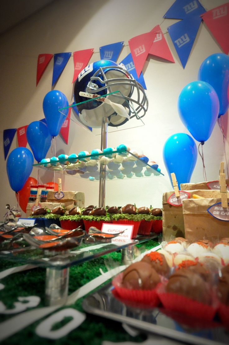 New York Giants Birthday party. Festa de futebol americano