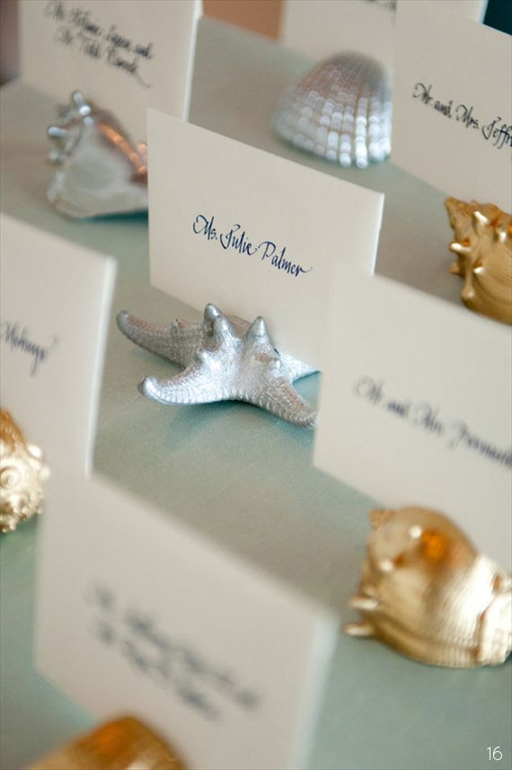 Beach Wedding Escort Cards (photo: ned jackson, holders: gallery360)