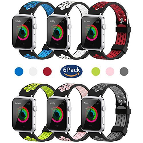 For Apple Watch Band 38mm 42mm,YiJYi Soft Silicone Sport Strap Replacement Wristband iWatch Bands for Apple Watch Series 3,Series 2,Series 1 - Product Specs: Compatibility:For Apple watch series 1/ 2/ 3 Band Material:Eco-friendly Silicone Buckle Material:Stainless Steel Package:YiJYi Soft Band for Apple Watch Feature: Comfortable,durable materials make these bands perfect for daily and nightly wear,during workouts and beyond. The buckle...