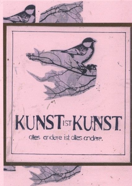 Postkarte | Kunst ist Kunst von sentimentaleslied auf DaWanda.com