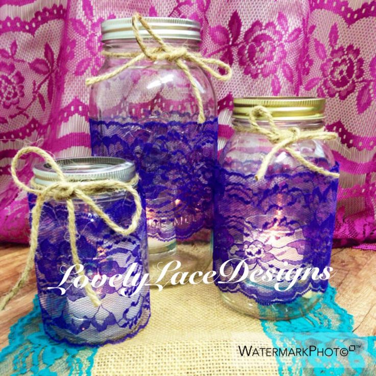 Peacock Weddings Royal Purple Lace Trim, 6 yards, Mason Jars Lace Trim,4 inch wide,Invitation Lace, DIY, wedding decor, Craft Supplies by LovelyLaceDesigns on Etsy