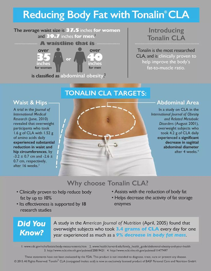 Reduce your Body fat with Tonalin CLA  CLA is conjugated linoleic acid, a fatty acid that is recognized for its role in promoting good health. Tonalin is the highest quality form of CLA on the market, a licensed brand name owned exclusively by Cognis Group.   Tonalin CLA is made from a proprietary process that converts linoleic acid from safflowers into conjugated linoleic acid. (Safflower is the best source of linoleic acid.)