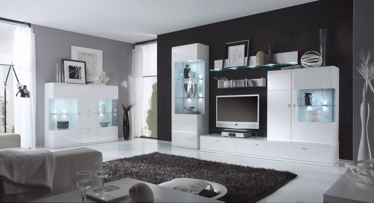 Die besten 25+ Wohnwand weiß hochglanz günstig Ideen auf Pinterest - wohnwnde hochglanz