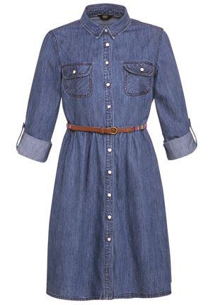 F&F Belted Denim Shirt Dress - £20