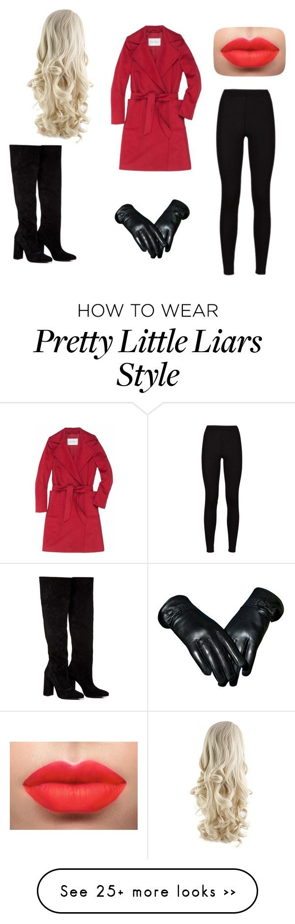 """""""Halloween 'Red Coat' Pretty Little Liars"""" by cottoncandykid on Polyvore featuring MaxMara and Anouki"""
