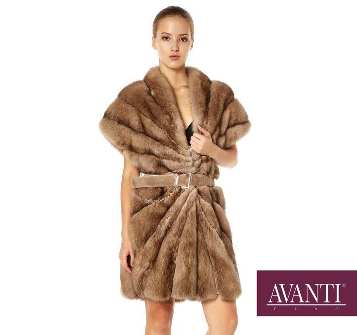 AVANTI FURS - MODEL: MARZENA SABLE JACKET with Mink and Leather belt #avantifurs #fur #fashion #fox #luxury #musthave #мех #шуба #стиль #норка #зима #красота #мода #topfurexperts