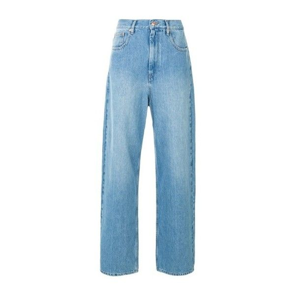 ISABEL MARANT ETOILE 'Corby'boyfriend Jeans ($245) ❤ liked on Polyvore featuring jeans, light blue, boyfriend fit jeans, light blue boyfriend jeans, blue jeans, light blue jeans and boyfriend jeans