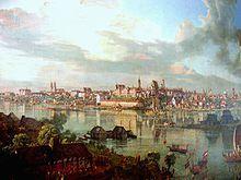 Widok Warszawy od strony Pragi w 1770