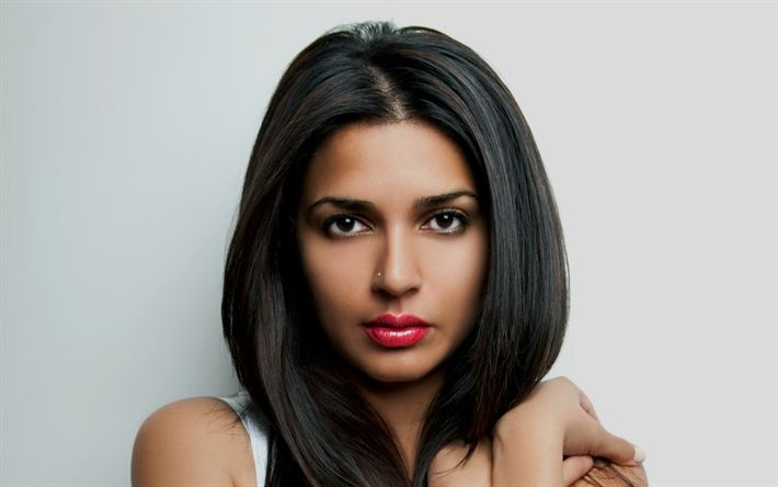 Descargar fondos de pantalla Nadia Ali, retrato, cantante estadounidense, belleza, morena