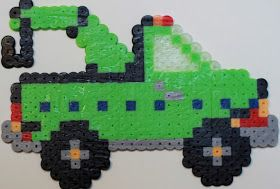 Perler Party: Perler Bead Tow Truck that can Tow Your Cars to the Shop