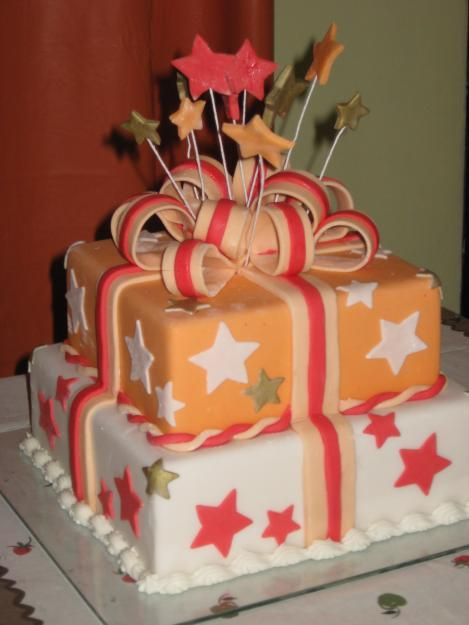 bolos com estrelas branco e laranja: Bolo Decorado 02 Jpg 469 625, Cakes, Google Search, Decoration For, For Cakes, Cake Decorating