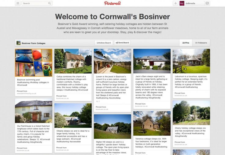 Bosinver Farm Cottages using Pinterest for Business