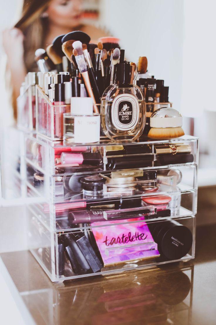 How I Organize My Makeup Vanity Organizers Makeup