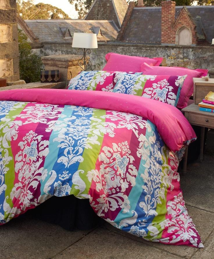 This PINK doona cover design will be sure to brighten up your room! #bedlinen