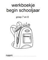Op de eerste schooldag is het fijn als je wat extra werk achter de hand hebt, voor wanneer je nog wat onvoorziene dingen moet regelen. Ik heb daarom voor verschillende groepen werkboekjes gemaakt die je in de eerste week kunt gebruiken.