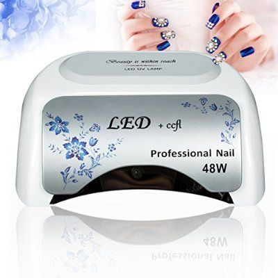 Roleadro 48w Led Nail Lamp with Timer for Led UV Shellac Gel Polish Nail Dryer Machine With Adaptor for Home and Salon Manucure