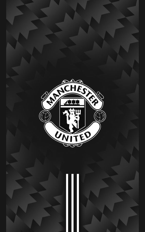 Manchester united 2017 2018 away black android wallpaper manchester united pinterest android wallpaper and black