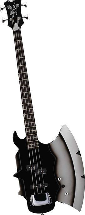 When they call a guitar an AX, they mean it for this one.  A Cort Gene Simmons AXE four string black Electric Bass Guitar. -  -cSw:)  > http://www.pinterest.com/claxtonw/